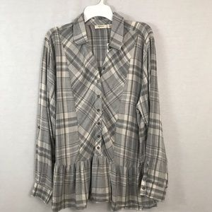 Style & Co plaid long sleeve flannel